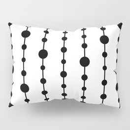 Black vertical lines and dots Pillow Sham