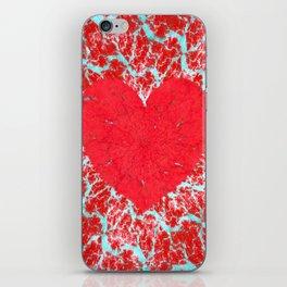 Frosty heart iPhone Skin