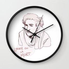 Enjolras - liberte ou la mort Wall Clock