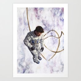 Hovering, Floating in Circles Art Print