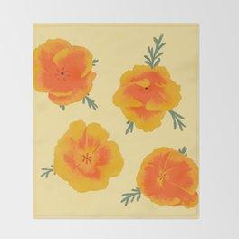 California Poppies Throw Blanket
