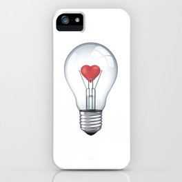 Lamp heart iPhone Case