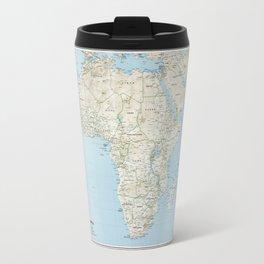 Map of Africa (1977) Travel Mug