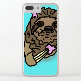 Naughty Sloth Clear iPhone Case