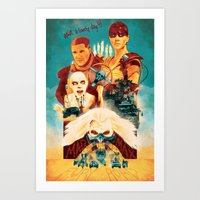 mad max Art Prints featuring Mad Max by marclafon