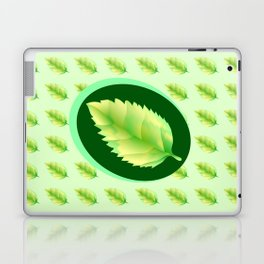 Green leaf of the tree. Leaf linden or apple for background or a logo or a pattern. Laptop & iPad Skin