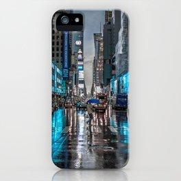 Spectacular Busy New York Manhattan City Street Blue Hue HD iPhone Case
