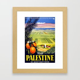 Palestine, vintage travel poster Framed Art Print