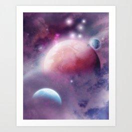 Pink Space Dream Art Print