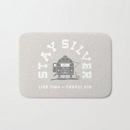 """Stay Silver"" Retro Type (gray) Bath Mat"