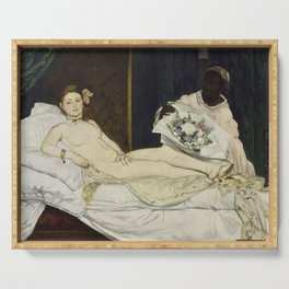 Olympia, Edouard Manet, 1863 Serving Tray