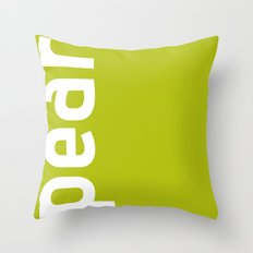 Colors - Pear Throw Pillow