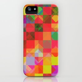 Don't be a square / Pattern iPhone Case