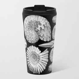 Sea Shells and Fossils (Ammonitida) by Ernst Haeckel Travel Mug