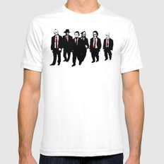 Reservoir Horror Icons White 2X-LARGE Mens Fitted Tee