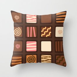 Chocolate Box Throw Pillow