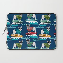 French Bulldog surfing pattern Laptop Sleeve