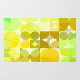 Pale Yellow Poinsettia 1 Abstract Circles 3 Rug