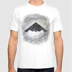 Fallen Angles White Mens Fitted Tee MEDIUM