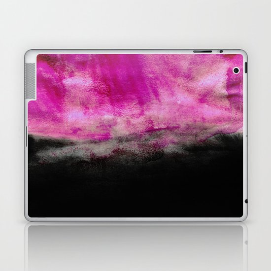 Magenta & Black Laptop & iPad Skin