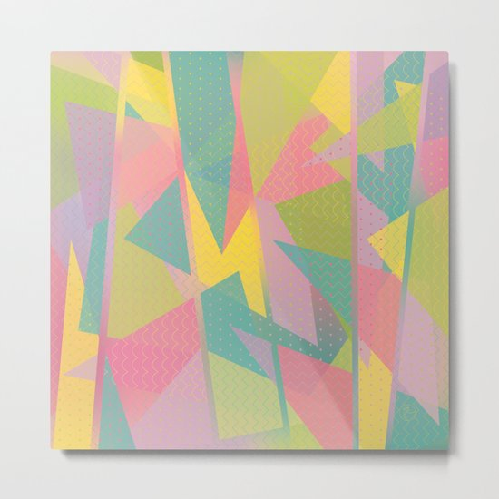 Abstract Geometric Pattern - Sugar Crush Metal Print