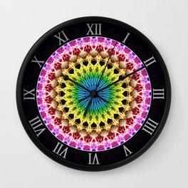 Mandala in rainbow colors Wall Clock