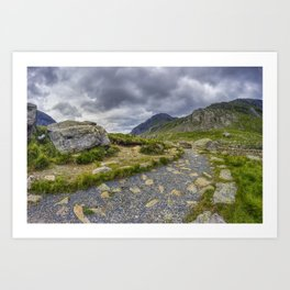 Ramblers Path To Tryfan Art Print