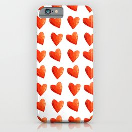 Red Heart Sprinkles iPhone Case