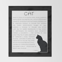 Cat Defined Throw Blanket
