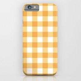 Buffalo Check - yellow gold iPhone Case