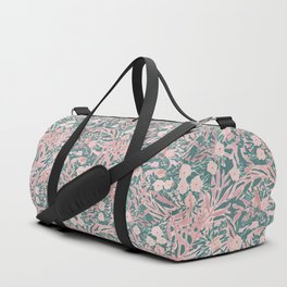 Tropical Daydream Blush Green Duffle Bag