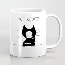 But first... coffee ! Cat drinking coffee Coffee Mug