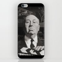 hitchcock iPhone & iPod Skins featuring Hitchcock by Zach Schoenbaum