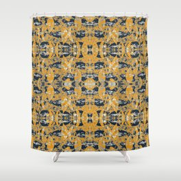 Autumn leaves and fibre pattern Shower Curtain