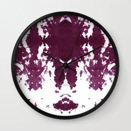 Velvet Kumo Shibori Plum Wall Clock
