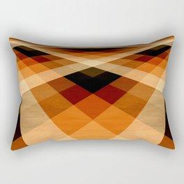 Autumn Groovy Checkerboard Rectangular Pillow