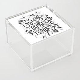 Use Words to Express not Impress Acrylic Box