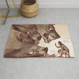 Taking the Dog for a Walk Rug