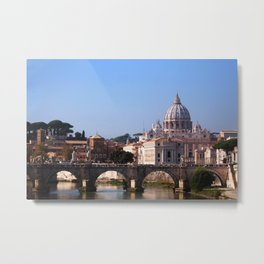 Panorama of Rome and Vatican Metal Print