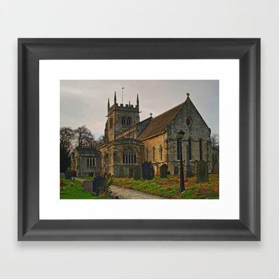 All Saints, Sherburn-in-Elmet Framed Art Print