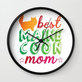 Best Maine Coon Mom Cat Wall Clock