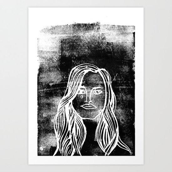 untitled girl Art Print