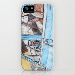 Rusty Blue Car iPhone Case