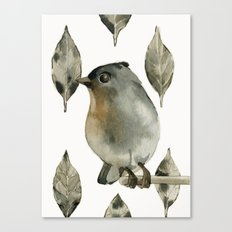 Grey Birdy Canvas Print