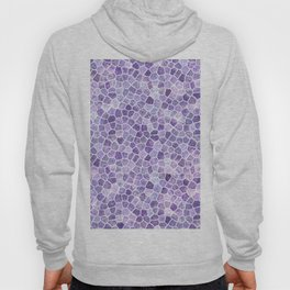 Pale Lilac Cobbled Patchwork Hoody