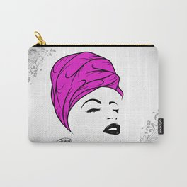 Lady Wrap (purple) Carry-All Pouch