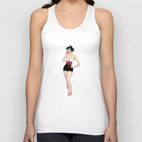 pinup Tank Tops featuring PinUp by AnishaCreations