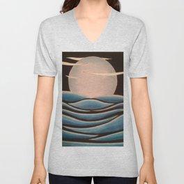 Night Moon Unisex V-Neck