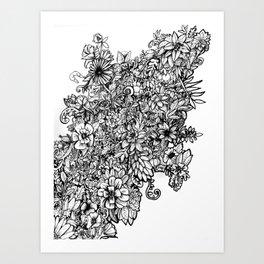 The Flower Tower Art Print