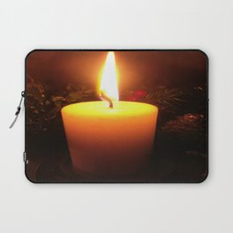 Winter's Candle, Christmas Laptop Sleeve